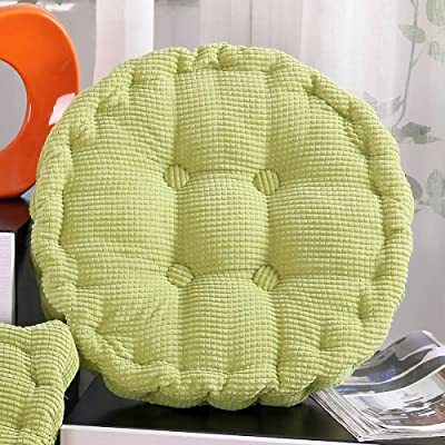 ZPEE Soft Tatami Floor Cushion,Thicken Corduroy Tufted Chair Cushion,Round Quilting Floor Pillow,Home Chair Cushion for Indoor Outdoor Green Diameter40cm: Home & Kitchen