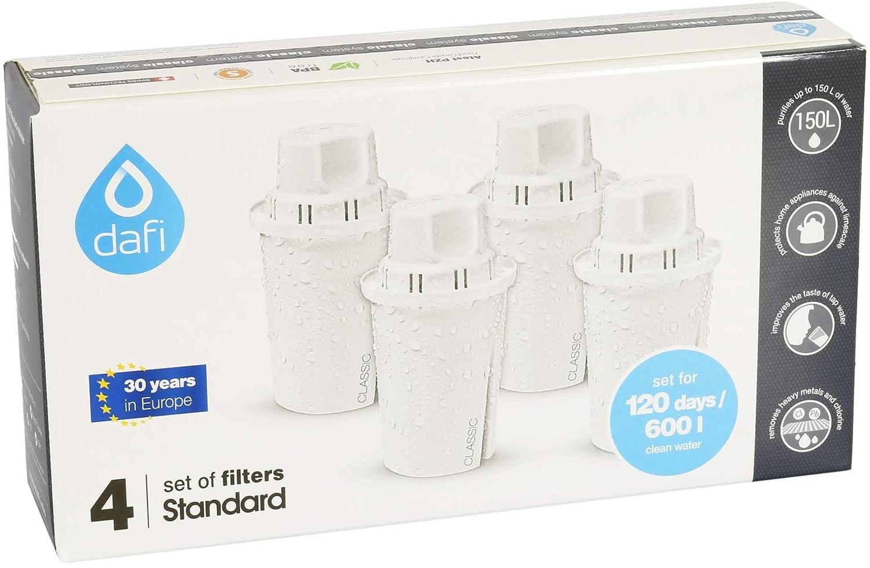 Dafi Filtros de agua (4 unidades, compatible con jarras Brita® Classic): Amazon.es: Hogar