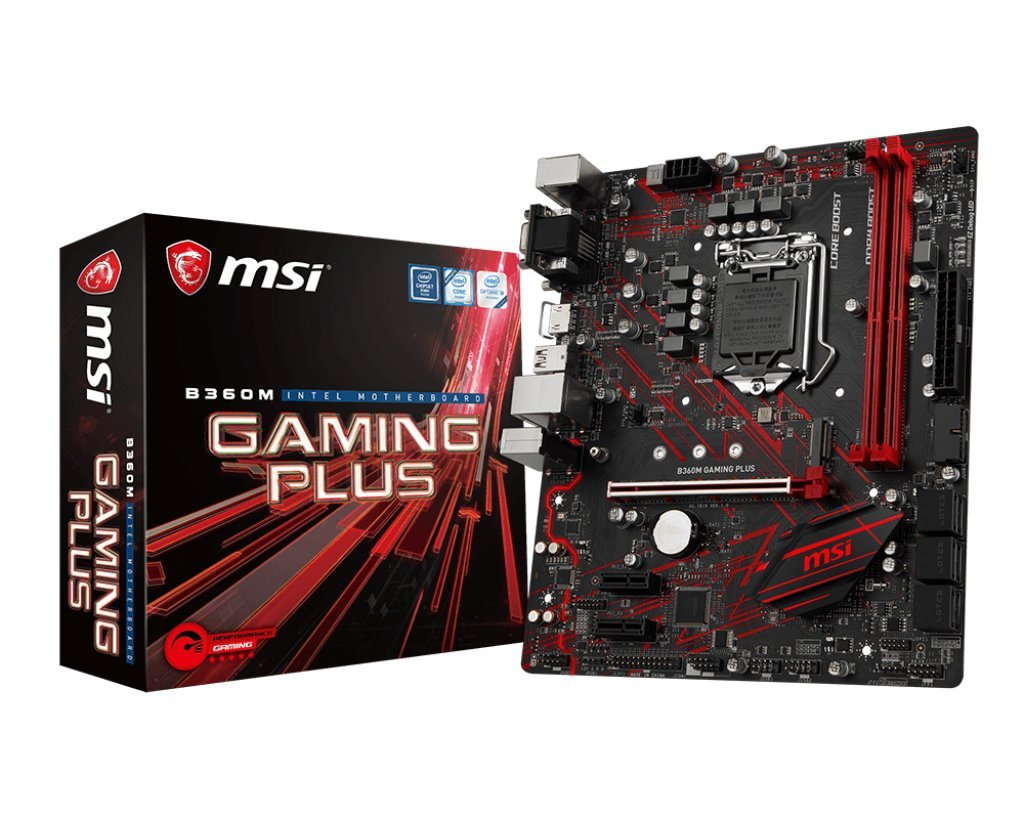 MSI B360M Gaming Plus VR, Optane Ready, Mystic Light, Certified mATX  Motherboard ( B360M GAMING PLUS)