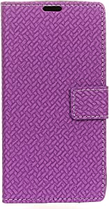 Funda para Xiaomi Mi A2 Lite Faux Cuero Billetera con Stand Función Carcasa para Xiaomi Mi A2 Lite (Púrpura)