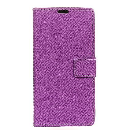 G-Hawk Caso de Vodafone Smart N9 Lite, Cuero Textura del Líneas Trenzadas de
