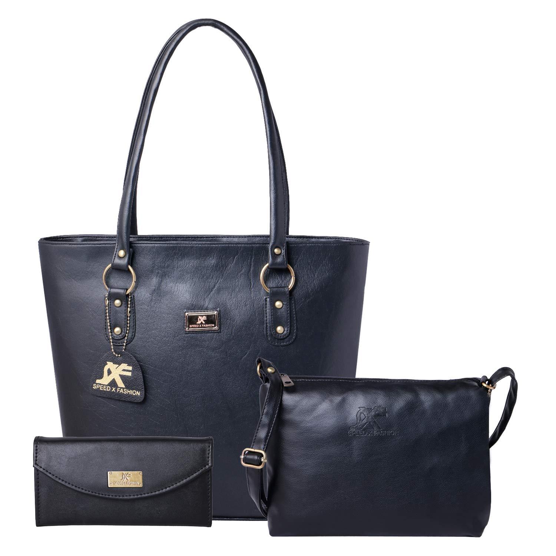 Speed X Fashion Women's Handbag And Sling Bag Combo Of 3