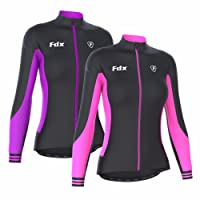 FDX Womens Thermodream Cycling Jersey Full Sleeve Thermal Roubaix Cycling Jacket