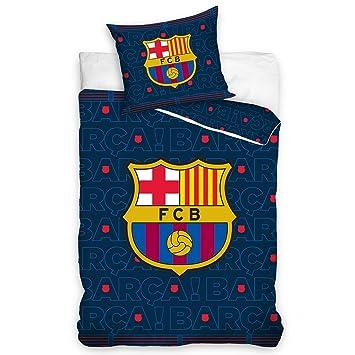 Fc Barcelona Fcb161002 P Bettwäsche 140 X 200 70 X 80 Cm