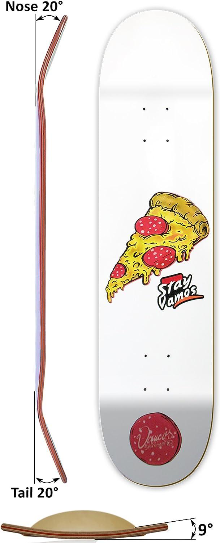 Diverse Gr/ö/ßen Ice Design Vamos Skateboards 100/% Canadian Hardrock Maple Skateboard Deck mit Griptape