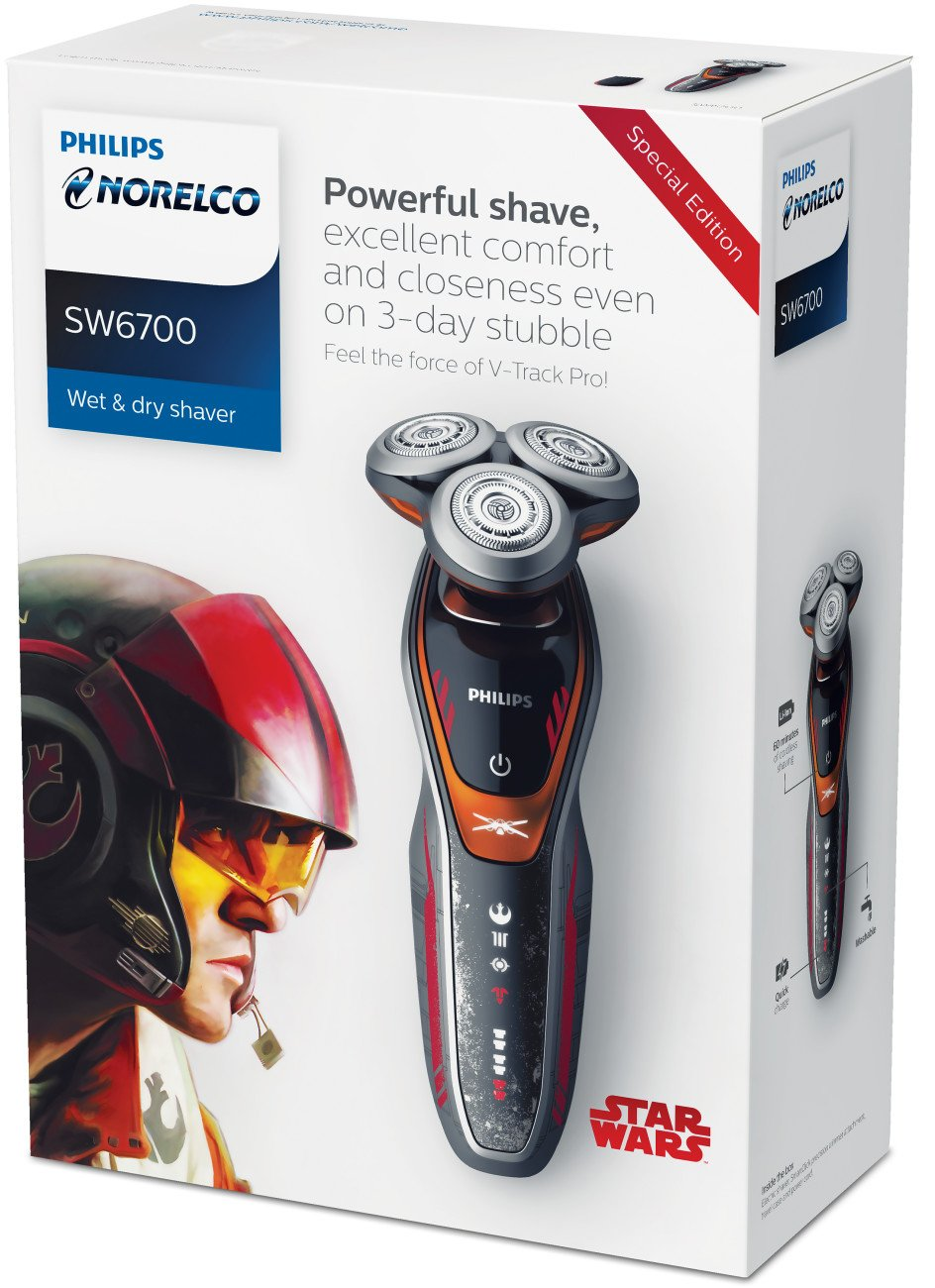 Philips Norelco Special Edition Star Wars Poe Wet & Dry Electric Shaver, SW6700/91, with Turbo+ mode and Precision Trimmer by Philips Norelco (Image #5)