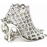 Maycom Silver High-heeled Shoe Keychain Creative Fashion Refinement Lady Gift Hollow Shoes Keyring Key Chain Ring Keyfob 86113