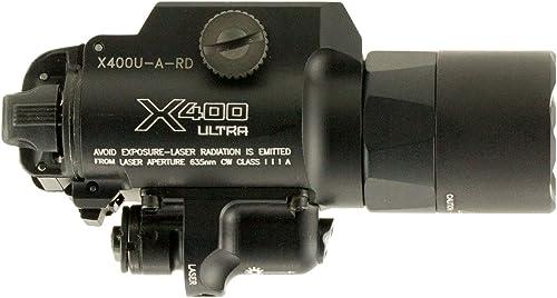 SureFire X400 Ultra LED Handgun or Long Gun WeaponLight with Red Laser Sight