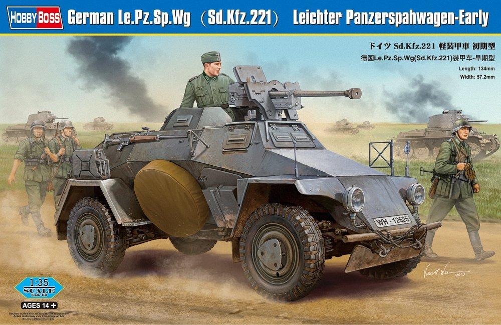 Hobby Boss 83813 Modellbausatz German Le.Pz.Sp.Wg (Sd.Kfz.221)Panzerwag HY83813