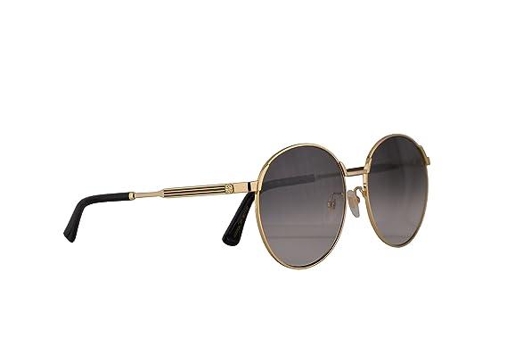 30234885f97 Gucci GG0206SK Sunglasses Gold w Grey Gradient Lens 58mm 001 GG0206 S K  GG0206 SK GG 0206 S K GG 0206SK  Amazon.co.uk  Clothing