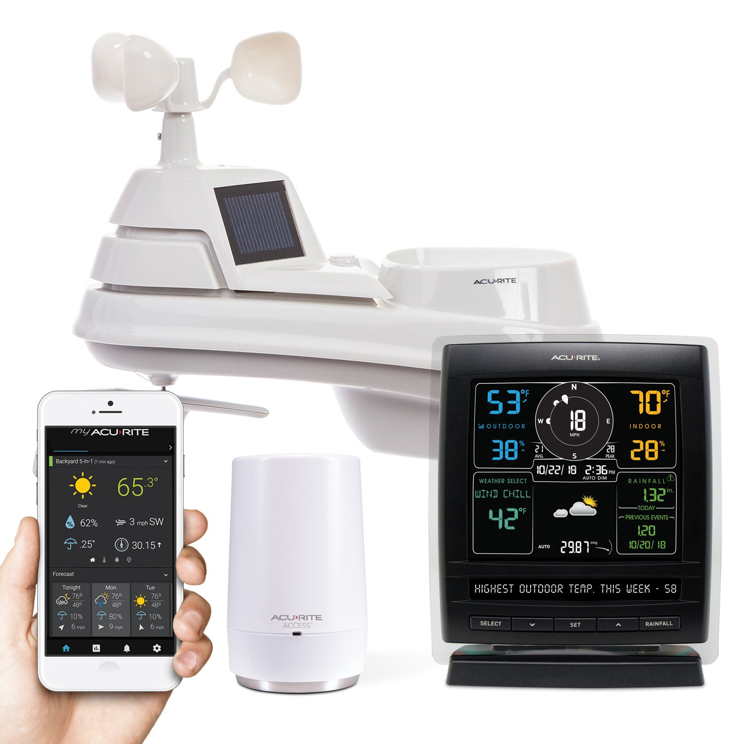AcuRite 01013M Weather Station with AcuRite Access, Color Display and Remote Monitoring by AcuRite