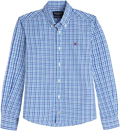 Hackett - Camisa de Hackett, Niño, Azul, Talla 7-8: Amazon.es: Ropa y accesorios