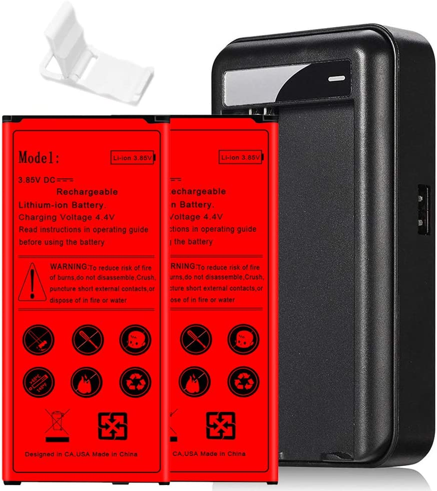 4 Kits 6190mAh Standard Fast Charging Battery Travel Home USB Quick AC Charger Folding Bracket for Samsung Galaxy S5 SM-S902L Straight Talk/TracFone