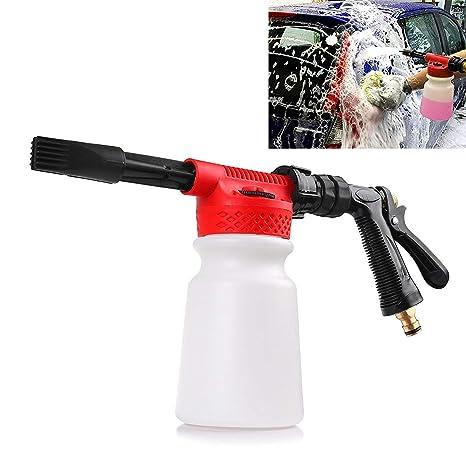 Car Foam Gun >> Houkiper Car Wash Foam Gun Soap Car Foam Blaster Foam Sprayer Cleaning Gun Bottle 900ml Water Foam Shampoo Gun For Van Motorcycle Vehicle Garden Leak