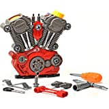 Toys Bhoomi Build Your Own Motorcycle Engine Overhaul Set with Lights & Sound Mechanics Construction Toy Modification Playset – (20 Pieces)