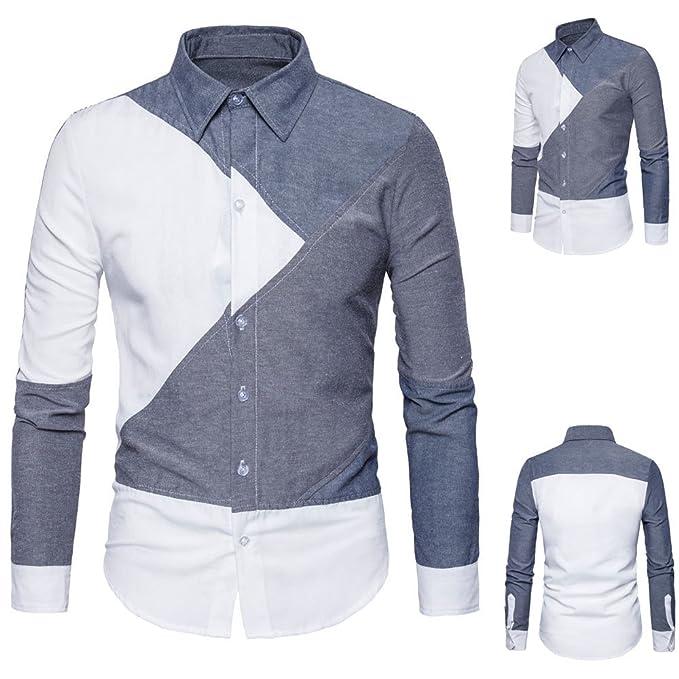 4d0a188330 Camicia Uomo LandFox Slim Fit Mens Manica Lunga Oxford Formale Abiti ...