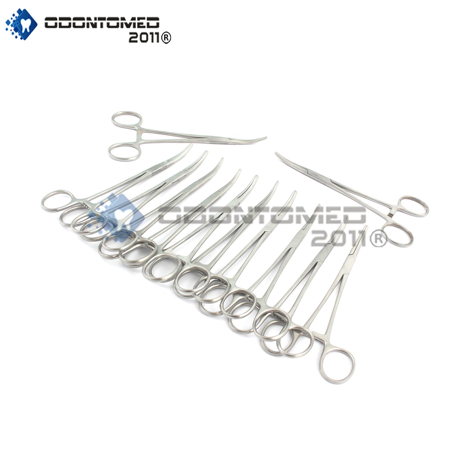 OdontoMed2011® Set of 12 PCS Stainless Steel AUTOCLAVABLE Rankin CRILE HEMOSTAT Forceps Curved 6.25'' Dental Veterinary Instruments ODM