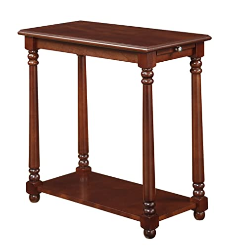 Convenience Concepts French Country Regent End Table, Mahogany
