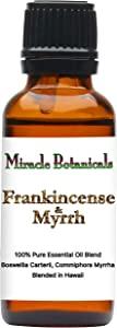 Miracle Botanicals Frankincense and Myrrh Blend - 100% Pure Essential Oil Blend - Therapeutic Grade - 30ml