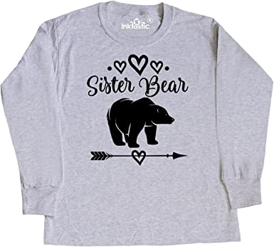 inktastic Middle Sister Gift Cute Girls Toddler Long Sleeve T-Shirt
