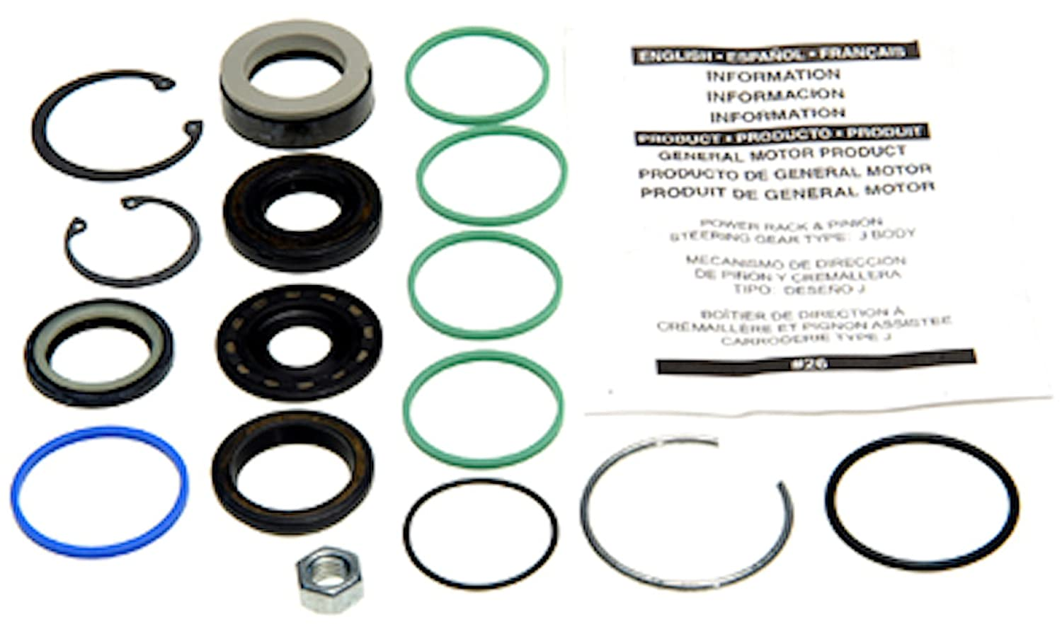 Edelmann 8628 Power Steering Rack and Pinion Seal Kit