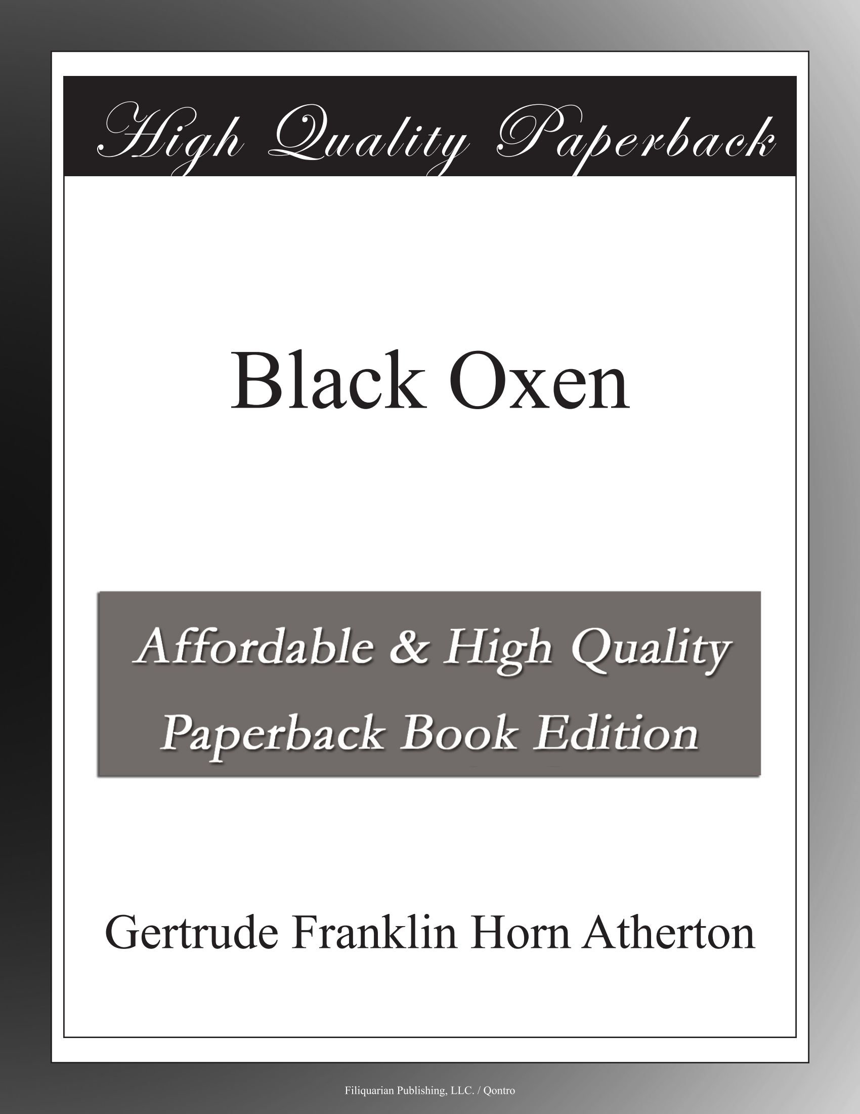 Black Oxen ebook