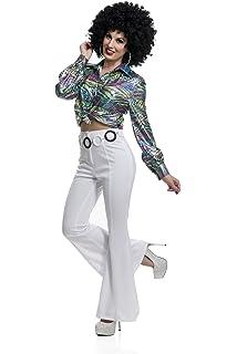 Amazon.com: Womens 70s High Waisted Flared Rojo Disco ...