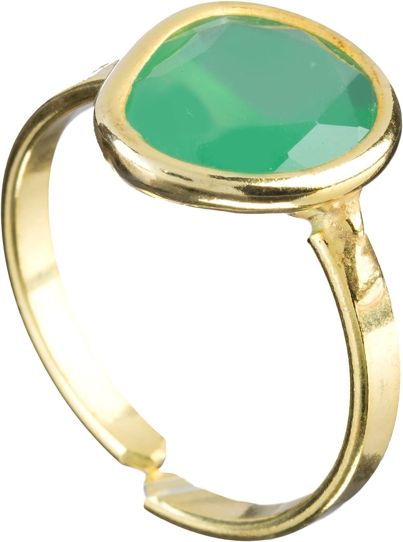 Córdoba Jewels | Anillo en Plata de Ley 925 bañada en Oro. Diseño Dolce Oro Esmeralda