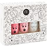 Coffret de 3 flacons de vernis à ongles Nailmatic Kids Cosmos : Top coat, Cookie, Bella