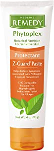 Medline Remedy Phytoplex Z-Guard Skin Protectant Paste with Zinc Oxide, Diaper Rash Cream, 4 Ounce, 12 Count