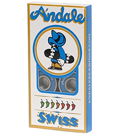 Andale Bearings Swiss Blue Skateboard Bearings