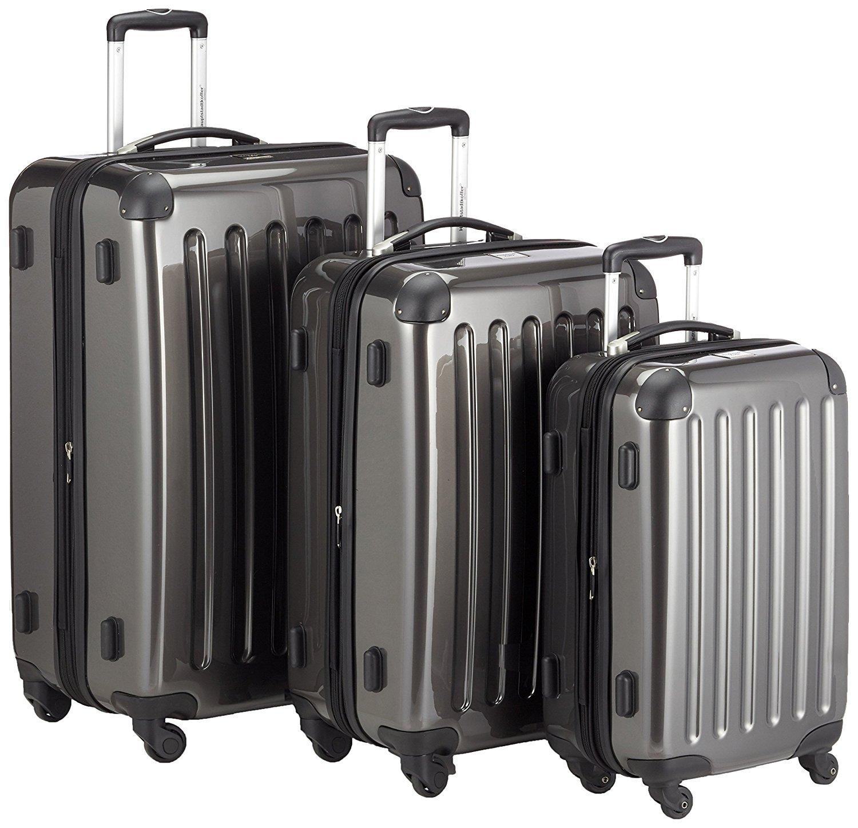 Alex Hauptstadtkoffer Handegpäck Koffer für jede Airline 55x35x20 cm Graphite