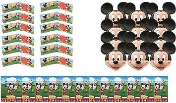 ALMACENESADAN 2433; Pack Fiesta y cumpleaños Disney Mickey Mouse; Compuesto por 12 caretas, 12 Invitaciones Mickey y 12 Bolsas.: Amazon.es: Juguetes y juegos