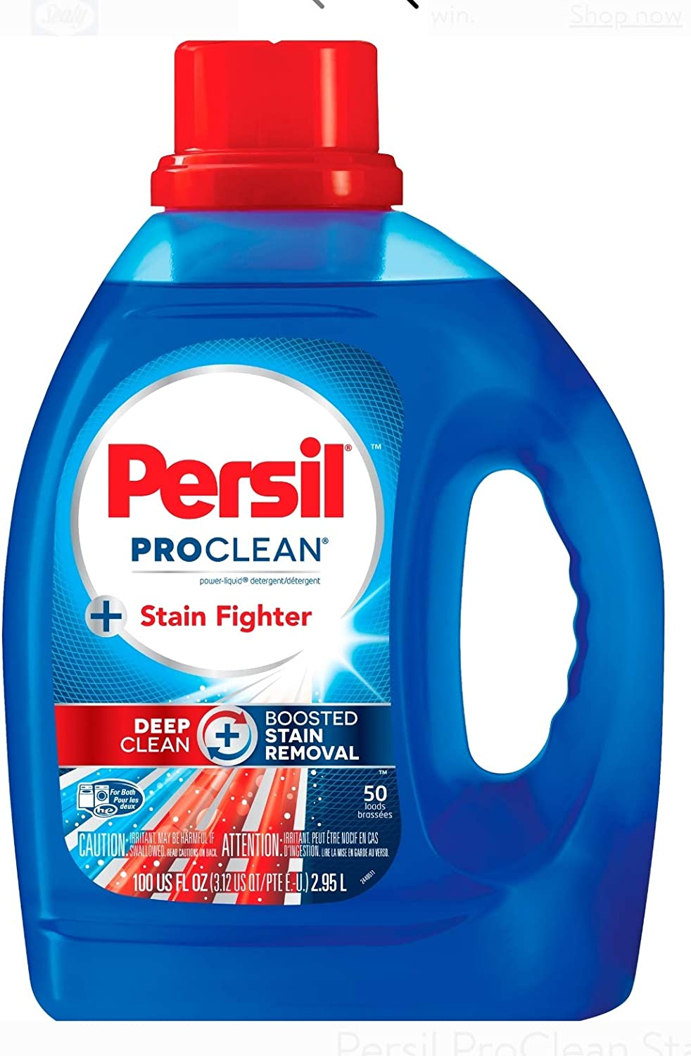 Persil ProClean 2-in-1 Liquid Laundry Detergent, 100 Fluid Ounces, 50 Loads (Packaging May Vary)