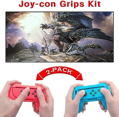 GZW-Shop Empuñaduras Agarres de Controlador de Joy-con Mando Grips Universales para Usar con los JoyCons de la Nintendo Switch Mario Kart ,Super Mario Odyssey, Fifa 19 Handle Kits: Amazon.es: Videojuegos