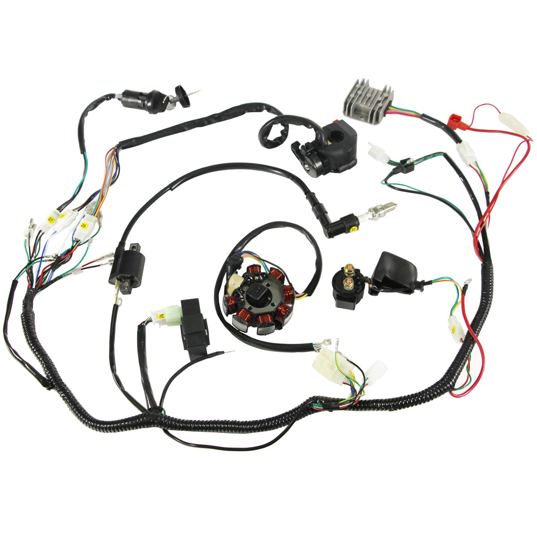 amazon auutoo plete wiring harness kit wire loom electrics GY6 Engine Wiring Diagram amazon auutoo plete wiring harness kit wire loom electrics stator coil cdi for atv quad 4 four wheelers 150cc 200cc 250cc go kart dirt pit bikes