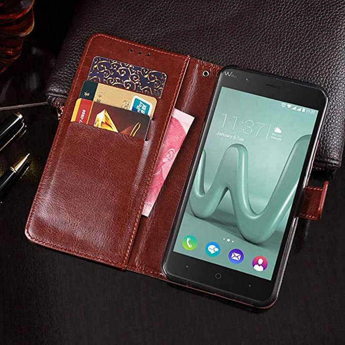 Amazon.com: Wiko Harry Case, PU Leather Stand Wallet Flip ...