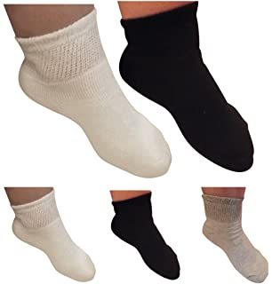 0a51048090 Diabetic Ankle Socks for Men and Women by AHG - Wide Quarter Socks 6 Pair