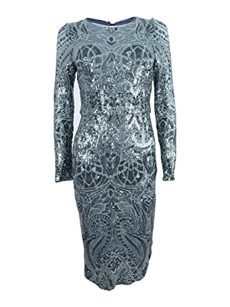 8844b9deb0 Image Unavailable. Image not available for. Color  Betsy   Adam Women s  Plus Size Sequined Sheath Dress ...