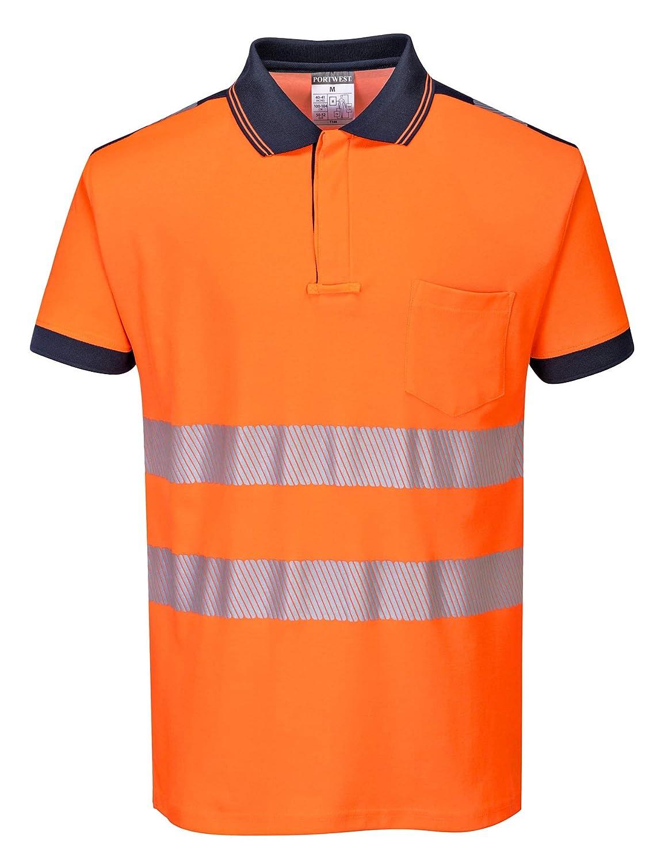 Portwest T180ORRXXXL Vision Hi-Vis Polo Shirt 3X-Large Orange