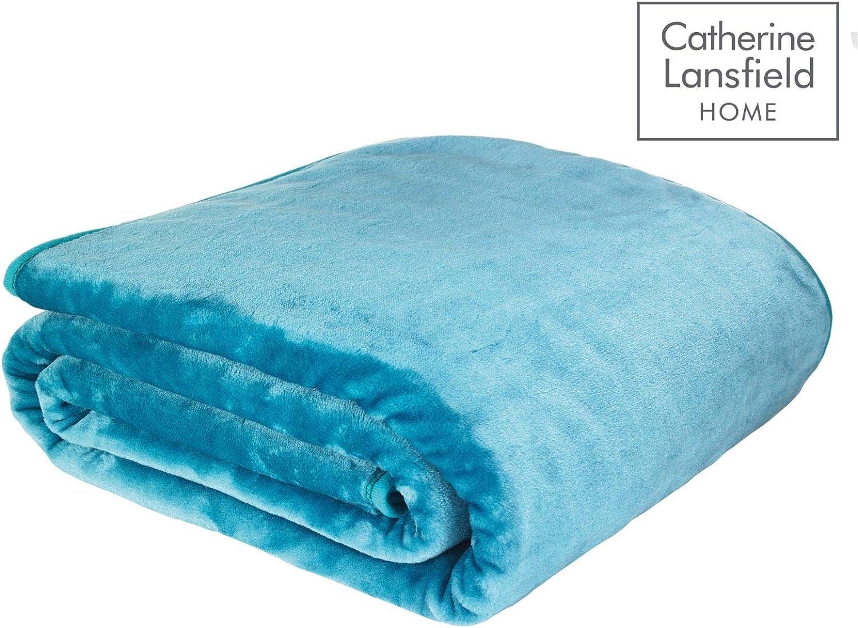 Catherine Lansfield - Manta (150 cm x 200 cm), Color Azul