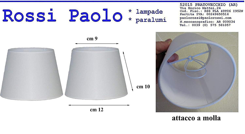 Prime paralume coprilampada tronco cono d12 in tessuto avorio e PVC - produzione propria - made in Italy Paolo Rossi