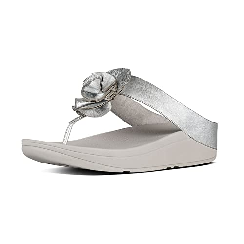 FitFlop Florrie Toe Post Sandals Silver