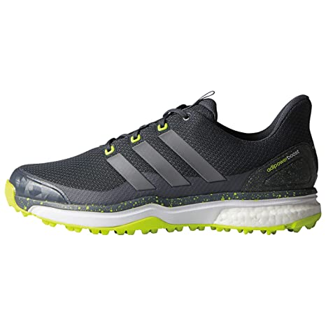 adidas Gents Adipower S Boost 2 Golf Shoes Onyx Iron Yellow