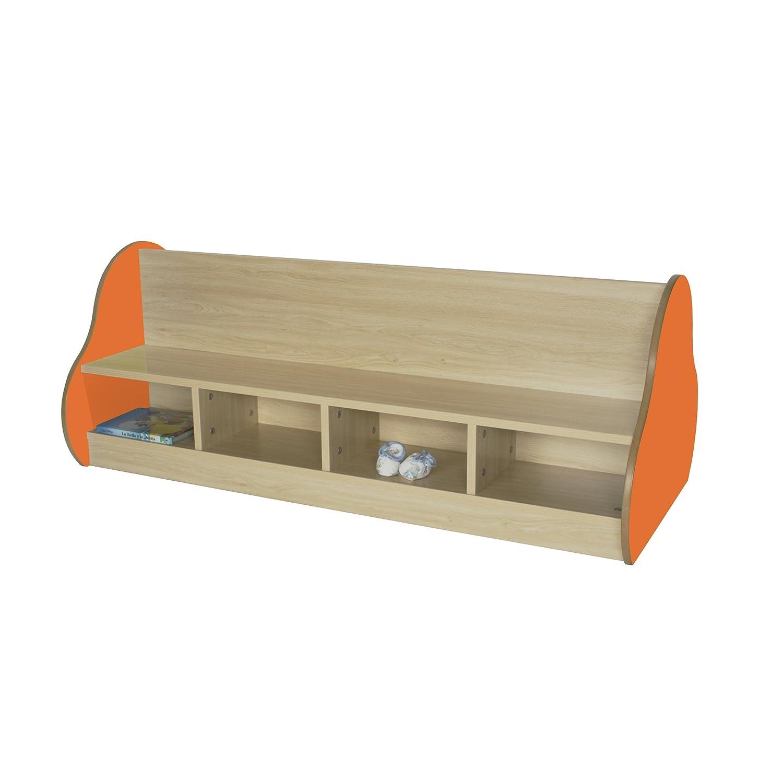 Mobeduc doppelseitig Bench für 8Kinder, Holz, Orange, 138x 54x 66cm Mobeduc_602107HP19