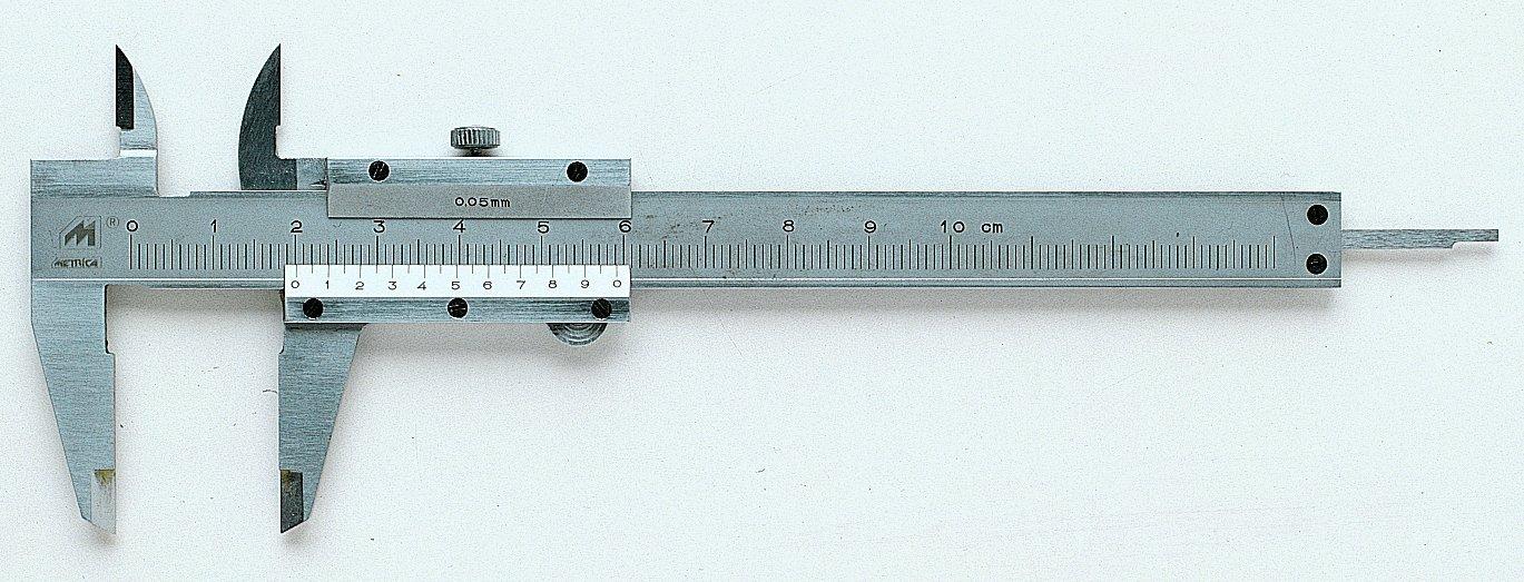 Metrica 10011 Mini pied à coulisse 100 x 0, 05 mm