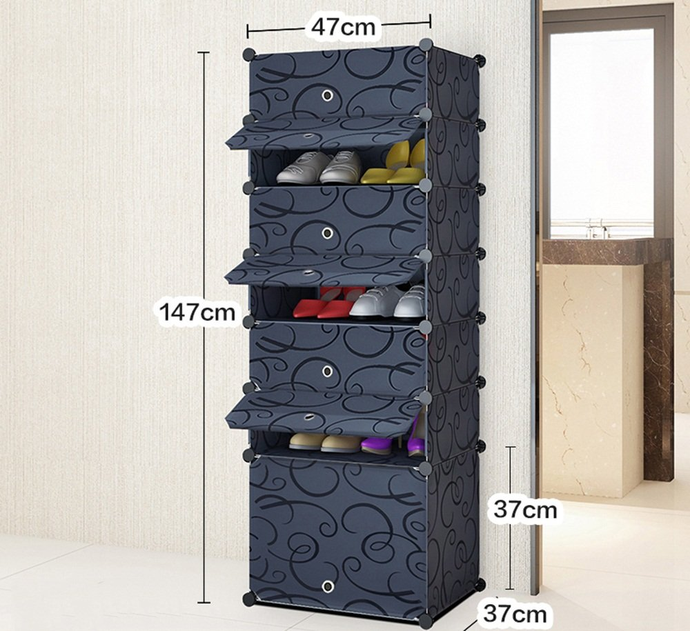 ALUS- Multi - Store Shelves Dust-proof Shoe Cabinet,Combination Of Large-capacity Multifunction Shoe Storage Rack,Household Resin Plastic Shoe Cabinet ( Size : 4737147cm )