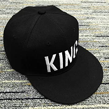 UxradG Snapback Gorra de béisbol con diseño de Letra King Queen Ajustable, Negro, King for Men: Amazon.es: Deportes y aire libre