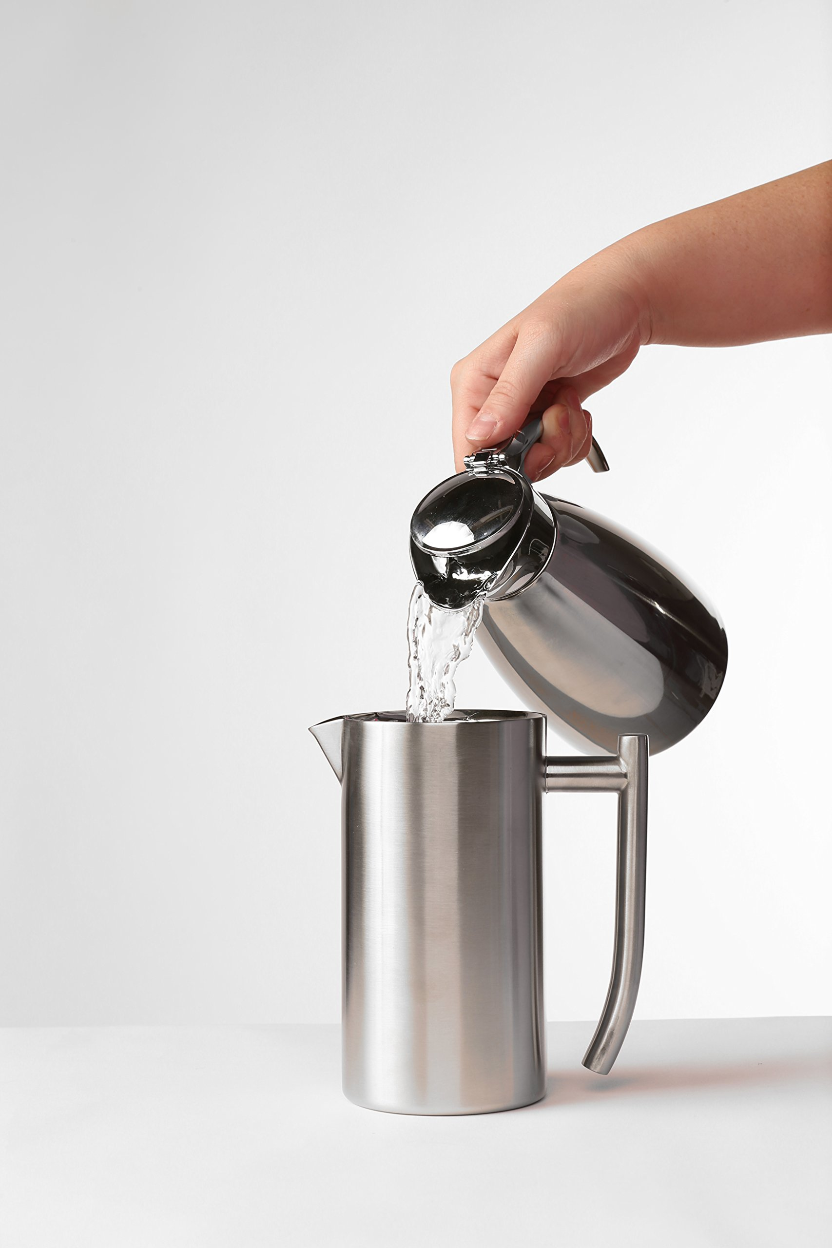Frieling USA 131 Double Wall Stainless Steel French Press Coffee Maker with Patented Dual Screen, 44-Ounce, Brushed by Frieling (Image #5)