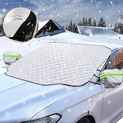 innislink Frontscheibenabdeckung Auto 215 125cm Scheibenabdeckung Windschutzscheibe Abdeckung Schneeschutz Winterabdeckung Sonnenschutz Sonnenblende Auto Abdeckung Scheibenschutz Frontscheibe